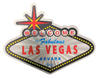 Second side view of the Welcome to Las Vegas Sign shaped magnet with Black Background.