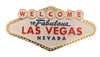 Shaped like the Las Vegas Welcome Sign in white, blue, red, and yellow colors, this is a metal magnet.