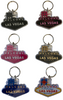 Packaged set of six (6) Las Vegas colorful Welcome Sign Shaped Keychains.