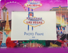 Purple Skyline background on this glass Photo Frame showcasing the Beautiful Las Vegas Casinos in full color for a pop of contrasting elements.