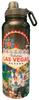 Black Background Las Vegas Scene stainless steel Water Bottle.
