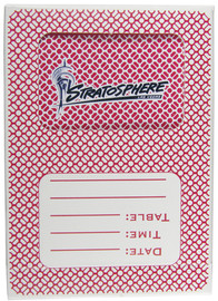 Playing Cards from the Black Jack or Poker Tables in Las Vegas; Stratosphere Casino