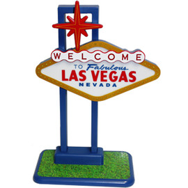Replica of the Welcome to Las Vegas Sign. This lights up.