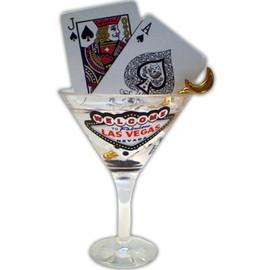 Las Vegas Martini Glass Magnet 3D mini realistic Magnet