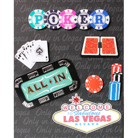 Hand embellished with 3D stickers and Pop Out items decorate this Poker All In themed Photo Album cover.