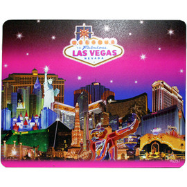 Las Vegas Pink Skies Design on this Pink Hues Background Computer Mousepad.