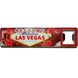 Las Vegas Super Strong Magnet/Bottleopener Red Dice Design