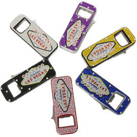 Rectangle Shape Lighter covered in Rhinestones and with a Las Vegas Sign design on it. Available in different colors, each solid in their respective colors.