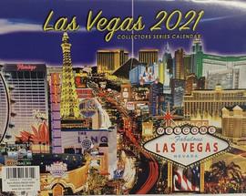 2021 Las Vegas Souvenir Collector Calendar with various pictures of Las Vegas scenes.