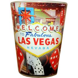 LV Red Dice Souvenir Shotglass
