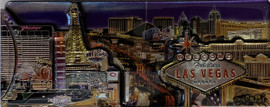 3D Magnet of Las Vegas Strip  Design Souvenir