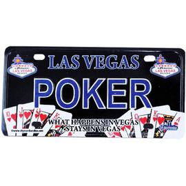 Las Vegas License Plate Magnet- POKER gift-shop