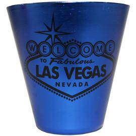 Las Vegas Stainless Steel Shotglass-BLUE