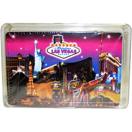 Pink Skyline Las Vegas Playing Cards