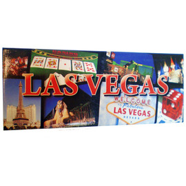 Panoramic Las Vegas Strip Collage Magnet rectangle souvenir