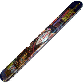 Large Size cardboard Nail File with a Printed Picture of the Las Vegas Strip on it.