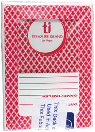 Playing Cards from the Black Jack or Poker Tables in Las Vegas; Treasure Island Casino