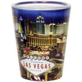 Las Vegas Shotglass- Souvenir From the Las Vegas Strip
