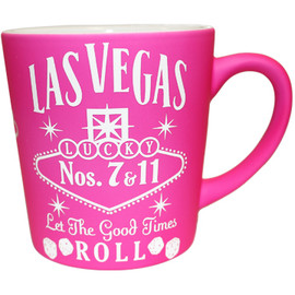 "Awesome Pink Las Vegas Souvenir Mug- ""Whisky Design"", right view."