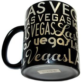 Las Vegas Black Foil Typography 11oz Standard Mug