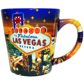 LV Glitter Stars 12oz Taper Mug with Inside Print