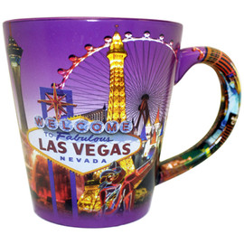 Las Vegas Purple Skyline Cone Mug