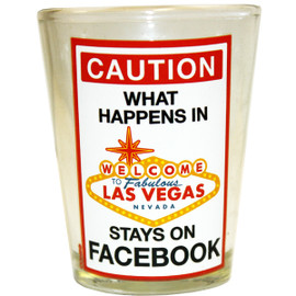 What Happens in Las  Vegas... shot glass