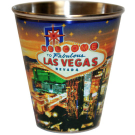 Las Vegas Star Tin Shot Glass