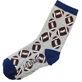 kid sized crazy las vegas souvenir socks with footballs