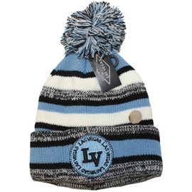 child toboggan from las vegas with blue and a puff
