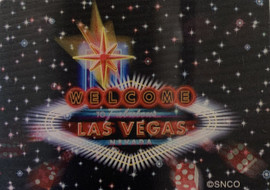 holographic Magnet for Las Vegas with stars and Las Vegas Sign