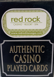 Red Rock Resort  Las Vegas Poker-Black Jack Playing Cards.