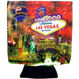 Las Vegas Firework design can coozie, drink cooler.
