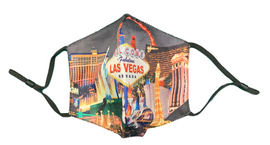 Facial Covering Mask with Black Background and our Hotel Collage design.