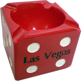 Red Die Las Vegas Shape Ashtray