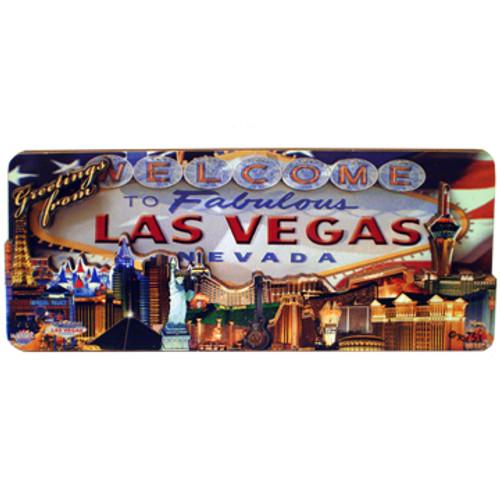 3D Wood Las Vegas Magnet- US Flag Design