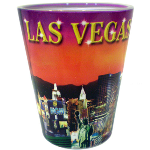 """LV Sunset"" Shotglass"