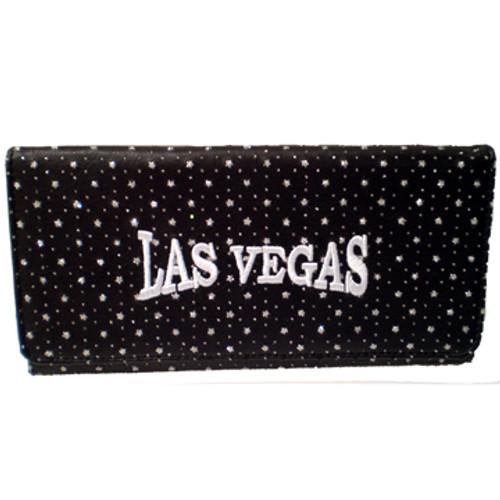 Black Las Vegas Diamond Stars Wallet