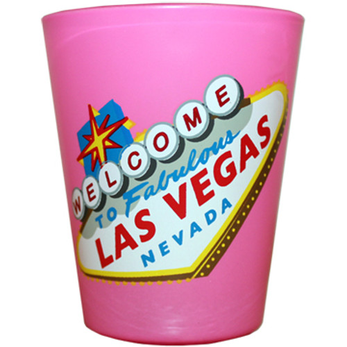Las Vegas HIGHLIGHTER Shotglass PINK