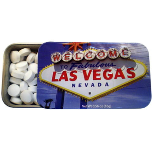 Las Vegas Mints Tin w/ Welcome Sign Daytime