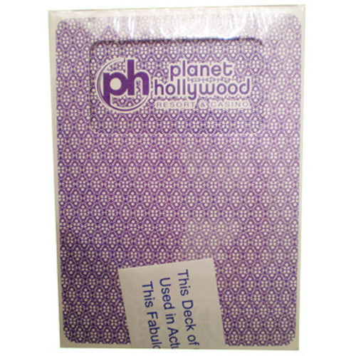 Playing Cards from the Black Jack or Poker Tables in Las Vegas; Planet Hollywood Casino