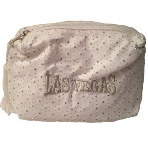 White Las Vegas Diamond Stars- Cosmetic Bag