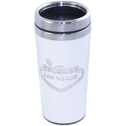 Las Vegas Travel Mug- White Stainless Steel-16oz