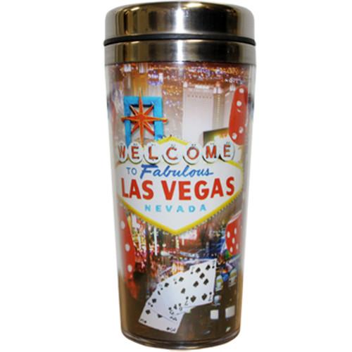 Red Dice Travel Mug Souvenir Las Vegas