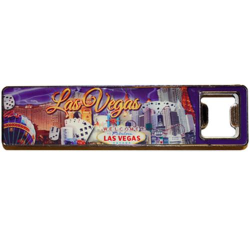 Las Vegas Super Strong Magnet/Bottleopener Purple Sky Design