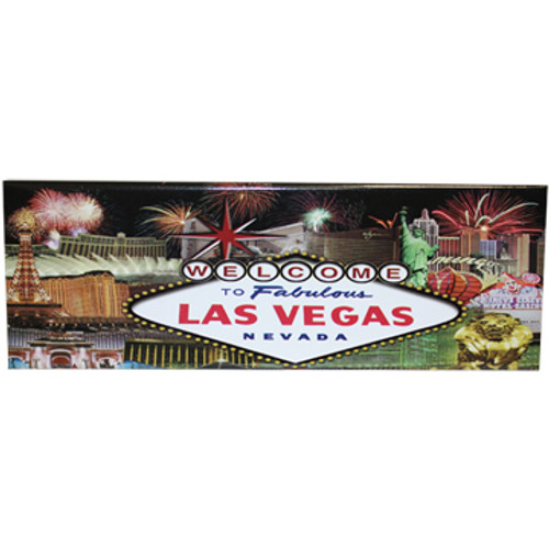 Las Vegas Magnet with View of the Popular Icons Rectangle Magnet colorful