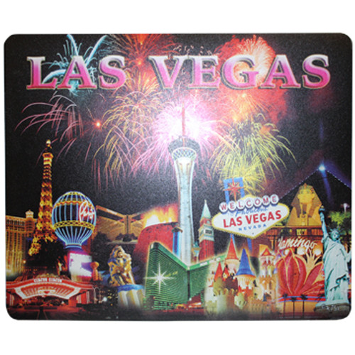 Las Vegas Fireworks Design on this Black Background Computer Mousepad.
