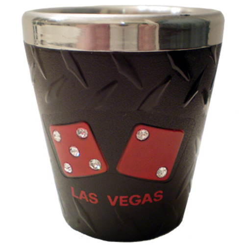 Black Las Vegas Shotglass-Stainless Steel