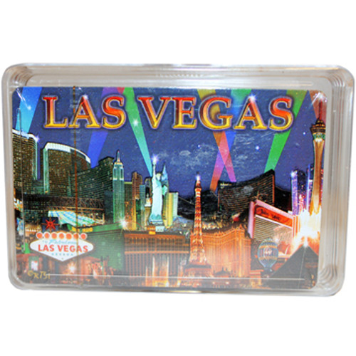 Purple Spotlights Las Vegas Playing Cards