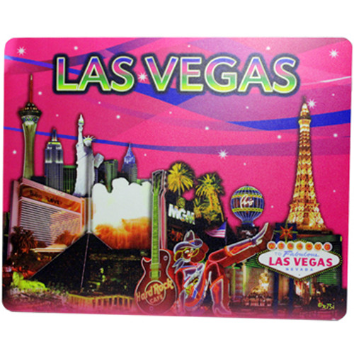 Las Vegas Casino Icons Design on this Pink Background Computer Mousepad.